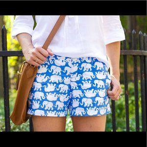Lilly Pulitzer Elephant Callahan Shorts Size 00